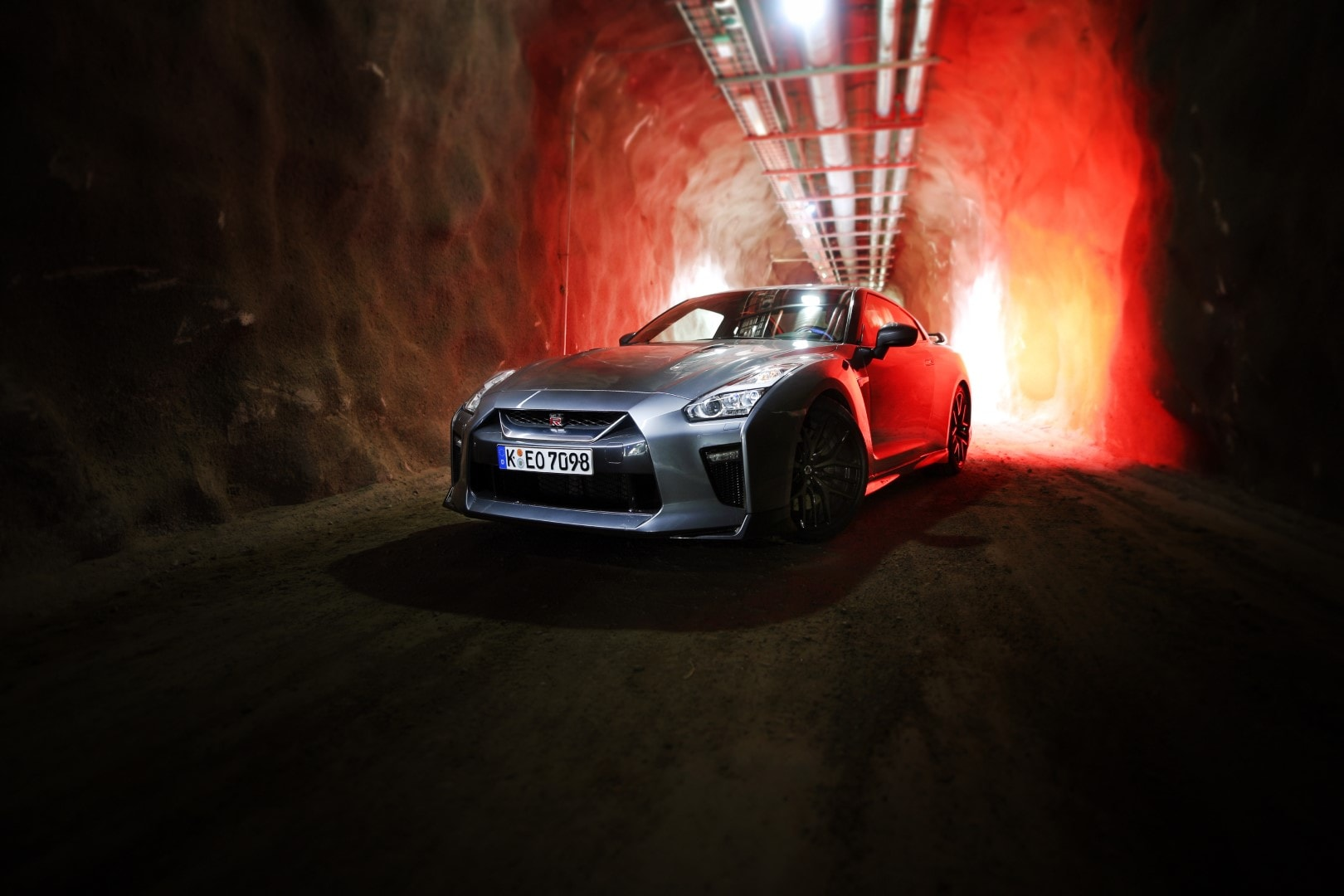Nissan GTR picture in Santa Claus tunnel Finland Rovaniemi Giedrius Matulaitis matulaitis.lt