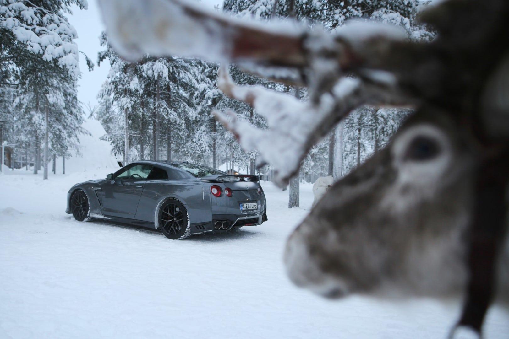 Nissan GTR in Rovaniemi Finland with a Rainder Giedrius Matulaitis matulaitis.lt
